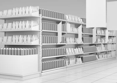 Supermarket  interior